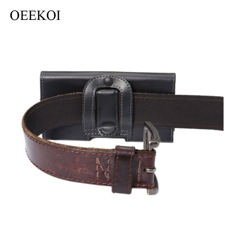 OEEKOI Belt Clip PU Leather Waist Holder Flip Cover Pouch Case for Sony Xperia E1/M/J/Neo L/P 4 Inch Drop Shipping