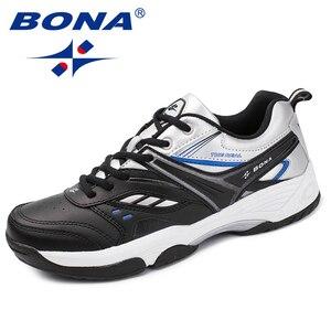 Image 1 - BONA החדש הגעה קלאסיקות סגנון גברים נעליים יומיומיות פיצול עור גברים חיצוני אופנה סניקרס נעליים נוח מהיר משלוח חינם