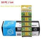 10pcs/card AG3 For Watch Toys Remote SR41 192 Cell Coin Alkaline Battery 1.55V L736 384 SR41SW LR41 392 Button Batteries Nov18
