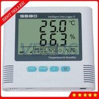 S580 th ЖК дисплей Температура влажности регистратор данных с USB Регистратор 8,6000 точки записи Встроенный звуковой световой сигнализации функц