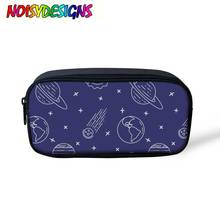 NOISYDESIGNS Starry Galaxy Print Pencil Case Cute Stationery Gadgets  Universe Space Box Students Accessory Cosmetic Bags