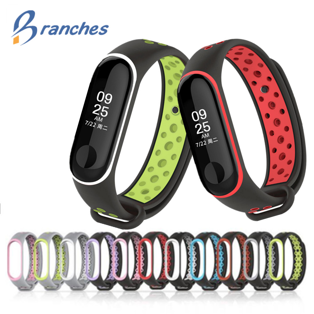 Mi Band 3 Strap Sport wrist strap for Xiaomi mi band 3 black Silicone Bracelet for band3 xiaomi Mi band 3 smart watch bracelet new mi band 3 bracelet wrist strap mi band3 smart band strap miband3 wristband black metal for xiaomi mi band 3 strap