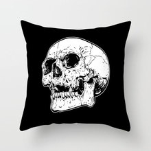 Cool pillowcase Black and White awesome pillow case skull print pillow cover 45*45 cm special home decorative kussensloop