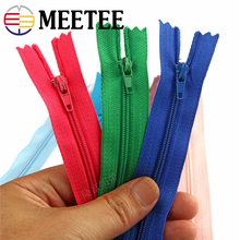 20pcs Meetee 3# Colorful 20cm Closed End Nylon Coil Zippers for Sewing Garments Trousers Tailor Craft Accessories 40color