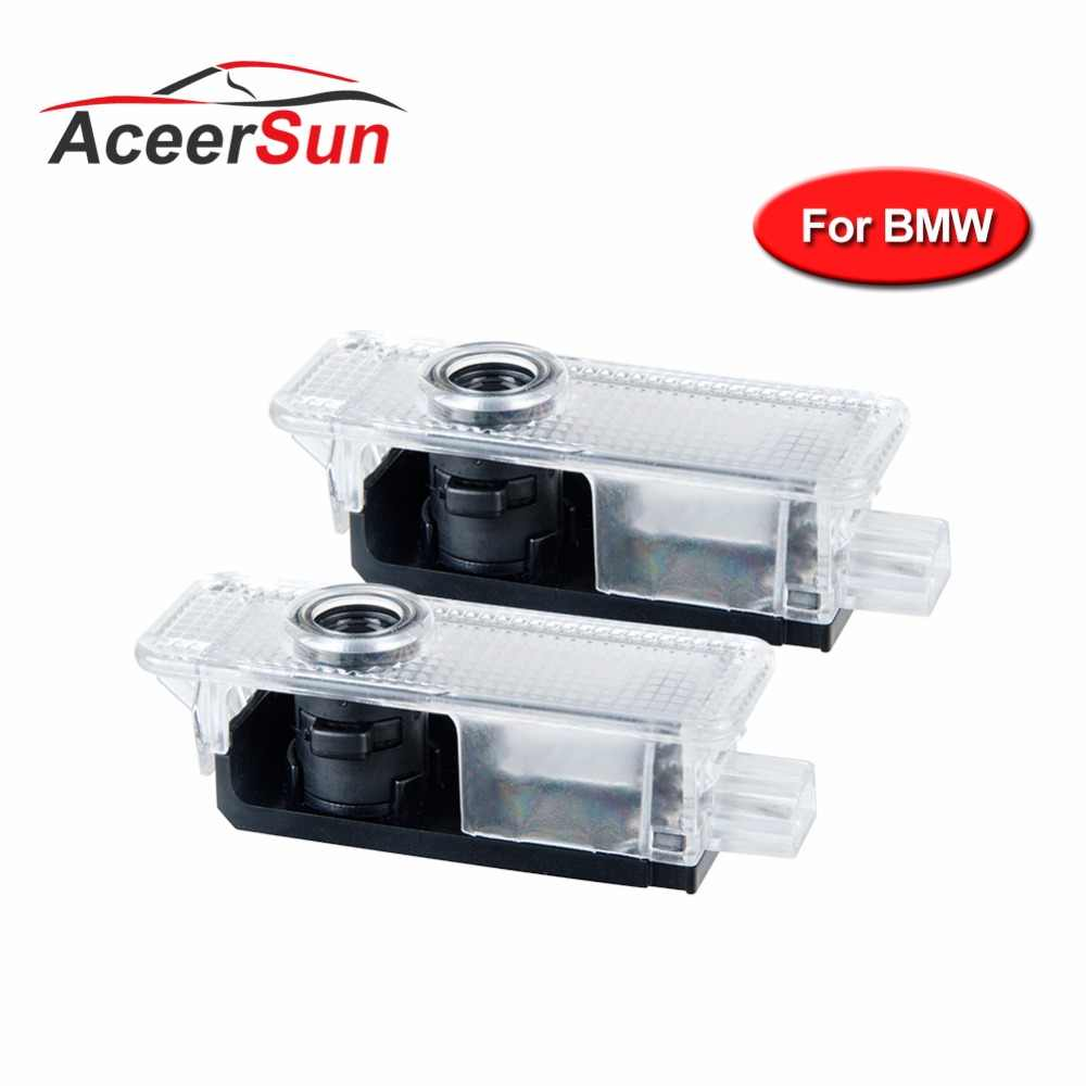 Aceersun LED Car Door welcome Light Logo Laser Projector Step Light Ghost Shadow Light for BMW Mini Series Easy Installation 12V