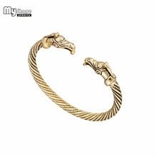 My Shape Vintage Teen Eagle Viking Bracelets Bangles for Women Wide Cuff Bangle Bracelet Men Fashion Jewelry Accessories my shape silver plated magnetic bracelets bangles for women viking cuff bangle engraved bracelet men jewelry