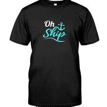 68952c867a8 Men T shirt Oh Ship Funny Cruise Ship Vacation Tshirt funny t-shirt novelty  tshirt