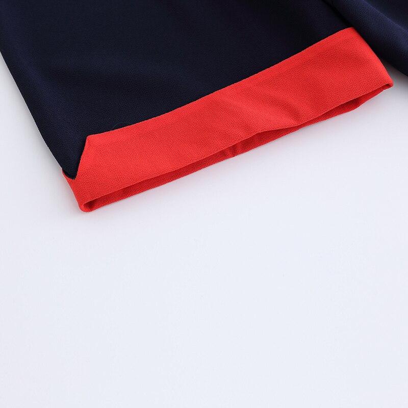 Emboridery Surdimensionné Robe Travail D'été Bleu Mousseline Robes De 2018 Bureau Soie En Courtes Femme Fleur Patchwork À 1 Dames Casual Manches wqnxWz70