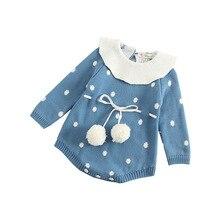 Банный халат для маленьких девочек и зима-осень Swearters из овечьей кожи; хлопковый теплый жилет Повседневное для девочек высокое качественный комбинезон одежда для детей от 0 до 24 месяцев Детские свитера