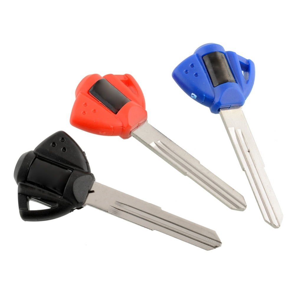 цена All new Blank Key Uncut Blade For Suzuki GSXR600 GSXR750 GSXR1000 GSX600F TL1000R Motorcycle Motorbike keys 3 Color