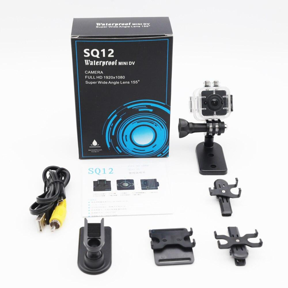 SQ11 SQ12 Mini Caméra Caméscope Full HD 1080 p de vision Nocturne Grand Angle Étanche DVR Mini vidéo Sport caméra PK SQ9 SQ 11 SQ 12