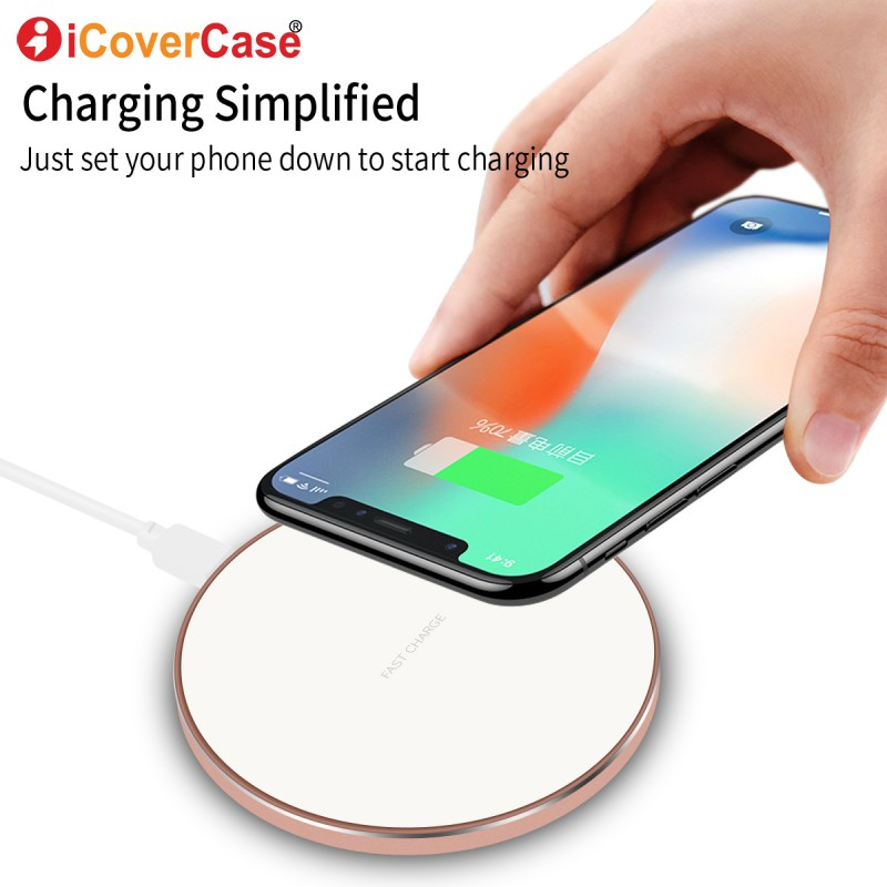 For iPhone X 8 Plus Wireless Charger Fast Charge Portable Qi Charging Pad Case For Samsung S8 S9 Plus Note 8 5 Phone Accessory