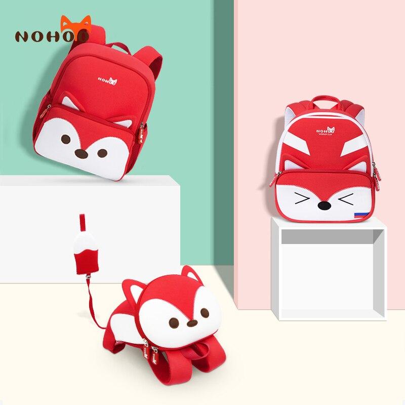 NOHOO 3D Cartoon Children School Bag For Boys Kids Toddler Waterproof Backpack Kindergarten Girls Mochila For 2-7 Years Old