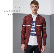 2017 Arrival Men'sDesign Slim Fit Cardigans Zipper Fashion Style cardigan Sweater Men Casual Cotton Polo Sweaters