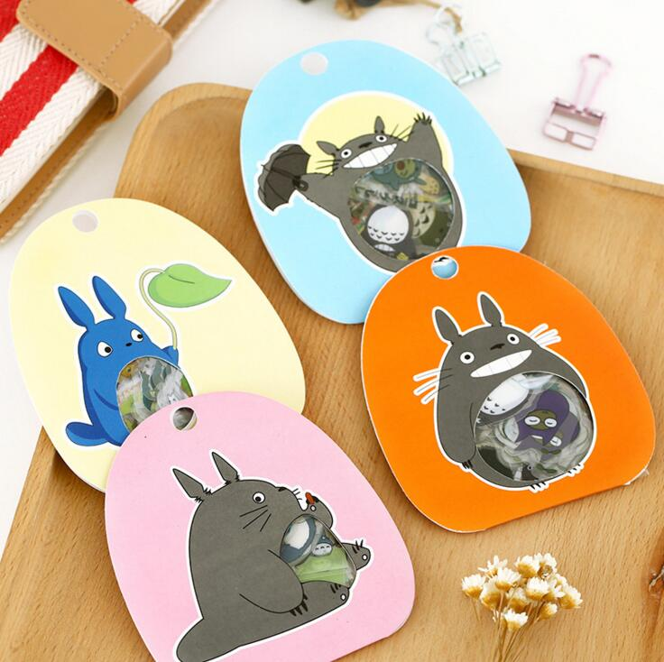 60 Pcs/pack Cute Totoro Transparent PVC Decorative Stickers Diary Sticker Scrapbook Decoration PVC Stationery Stickers