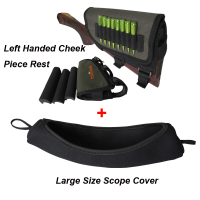 Tourbon Hunting Shooting Rifle Buttstock Cheek Rest Left Handed Black Neoprene Scope Cover For Hunting Gun