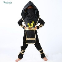 Kids Ninja Costumes Halloween Party Clothes Boys Black Warrior Stealth Children Cosplay Assassin Costume Children's Day Gifts