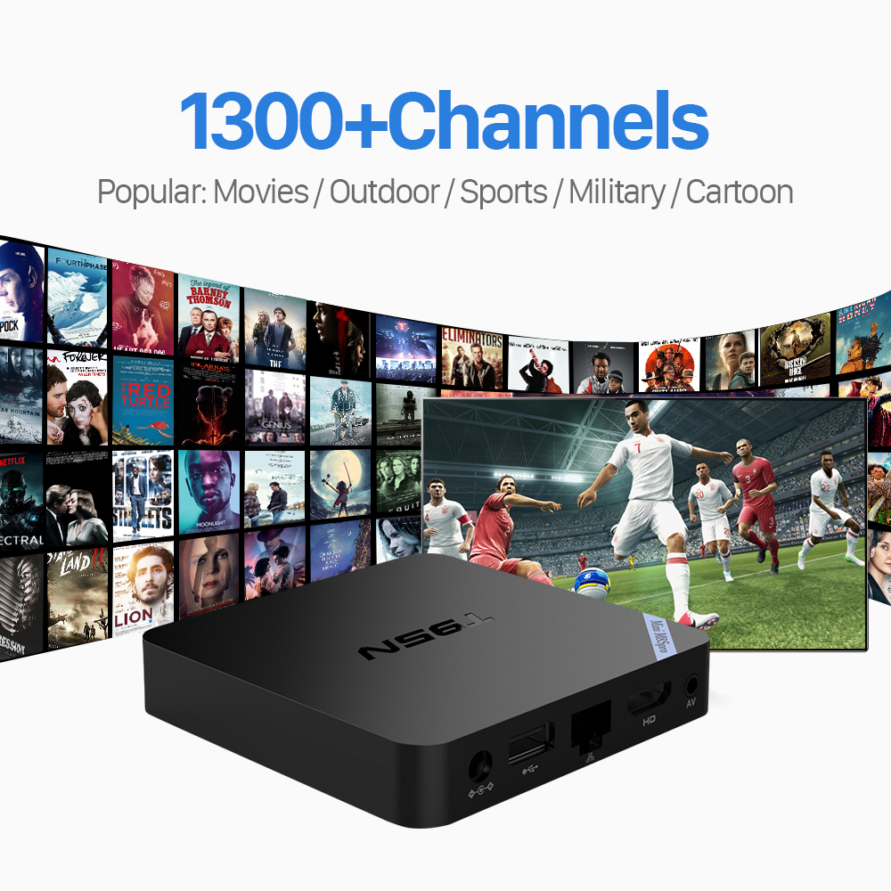 ФОТО T95N Android 6.0 TV Box 2/8GB with 1300 QHDTV IPTV Channels For Europe Italy UK DE Arabic French Morocco IPTV Box Free Shipping