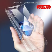 50pcs/Lot Screen Protector For Xiaomi Redmi K20 S2 Y2 6 6A 5A 5 Plus Note 4 4X 6 5 Pro Tempered Glass Protective Film(China)
