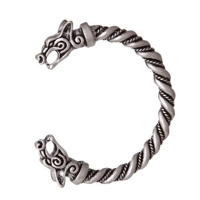 Dropshipping Viking Wolf Tin Bracelet Pagan Wolves Bangle Best Friend Gift Wristband Cuff