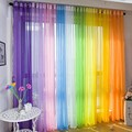 New Sheer Voile Tulle Curtain Voile Home Wedding Room Decoration Door Window Curtain For Living Room Decor