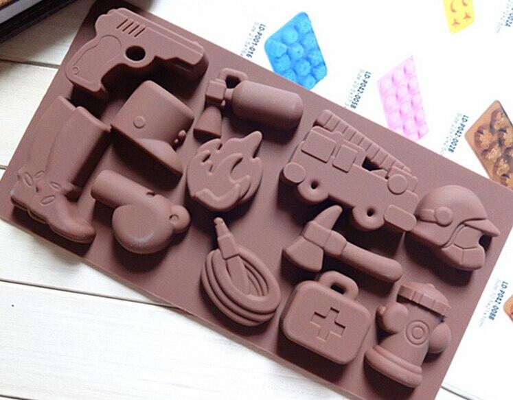 Chocolate molde hecho a mano del molde de silicona herramientas de la torta past