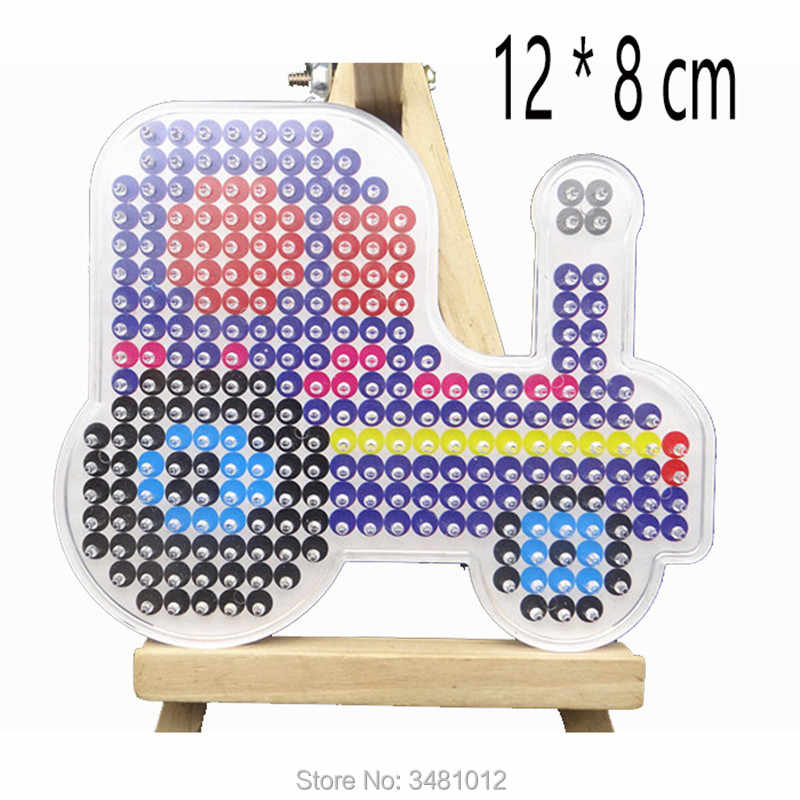 Eva Pegboards Patterns For Diy Hama Beads 5mm Jigsaw Tool Vehicles Animal Perler Beads Board Puzzles Crafts Kids Girls Toys