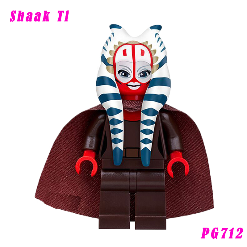 Shaak Ti With Blue-Bladed Lightsaber Star Wars The Clone Wars Member Of The Jedi Council Yoda Building Blocks Toy Pg712