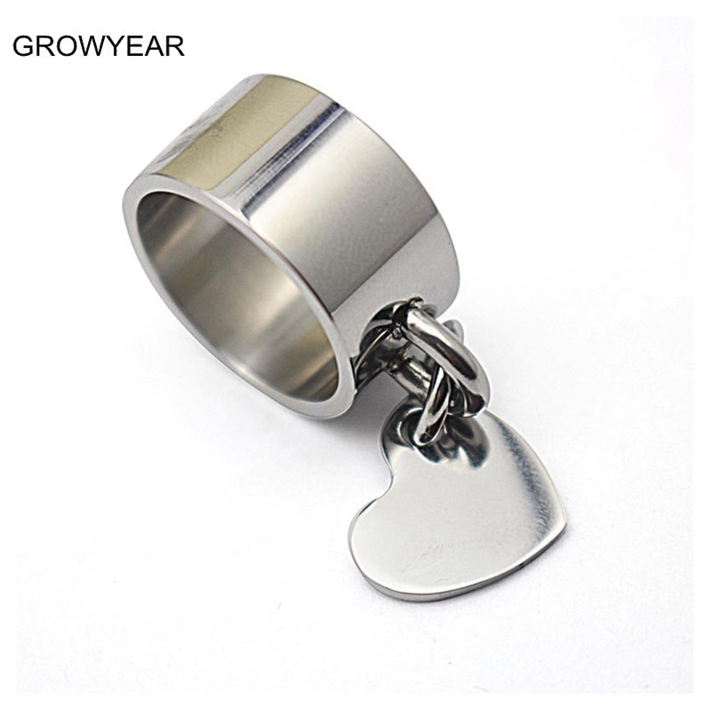 stainless steel jewelry 10mm wide cocktail
