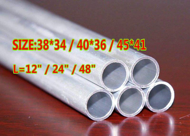 "6061 ALUMINUM TUBE PIPE ROUND 1.5/"" ODx1.34/""IDx24/"" x 0.0787/"" Wall //38x34x600MM"