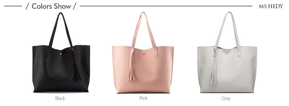 Products Name   2017 designer bag female tassel Artificial leather bag for  girl casual handbags rivet new big bag handbag bolsos mujuer sac a main Luo  Luo 329c9a69abdb4