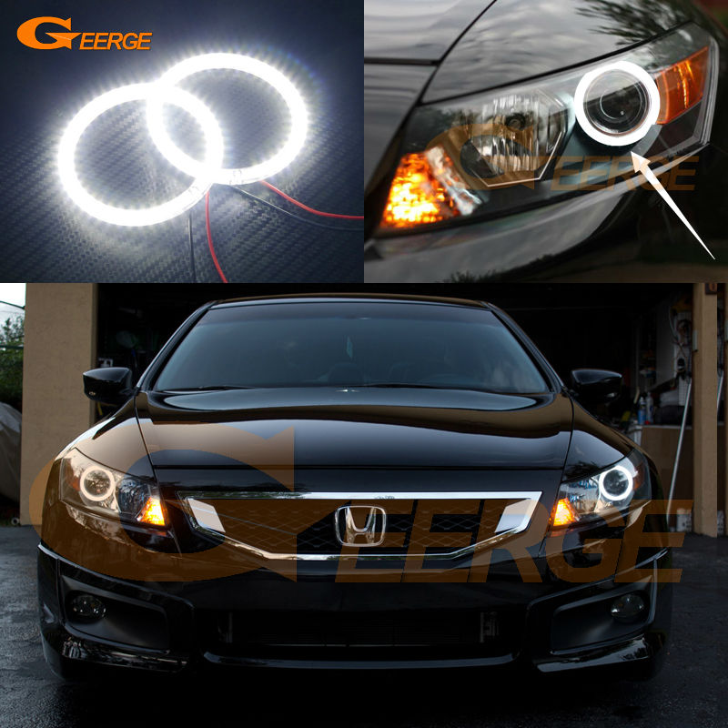 For Honda Accord coupe 2008 2009 2010 2011 Excellent Angel Eyes Ultra bright illumination smd led Angel Eyes Halo Ring kit прокладки клапанной крышки honda vtr1000f