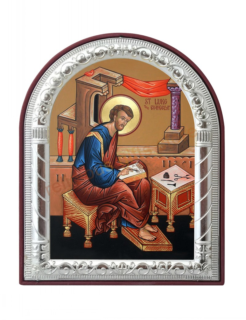 Can Custom Saint Luke The Evangelist Pictures Frame Silver