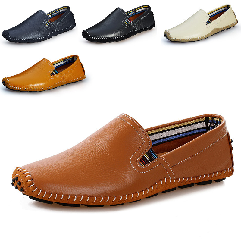 2017 spring and summer new leather men leisure low to help Peas shoes soft and comfortable sets of feet driving shoes футболка print bar murder