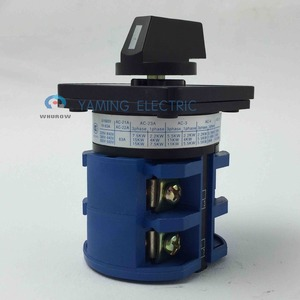 Image 4 - Rotary schalter 63A 2 Phase 8 schraube terminal 3 position Universal umstellung cam schalter silber kontaktieren