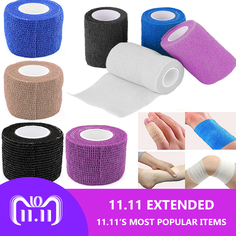 Security First Aid Elastic Bandage Survival bracelet emergency Kit Waterproof Self-Adhesive Kinesio Tape Cohesive Muscle Tape 48pcs lot waterproof self adhesive nonwoven bandage first aid kit sport protect tape cohesive wound wrap for hand 5cm 4 5m