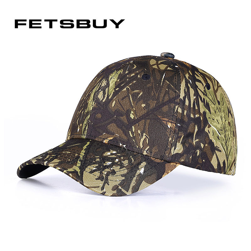 [FETSBUY] Leaves camouflage baseball cap army snapback Hat for men Cap women Trucket dad Hat casquette Polo wholesale
