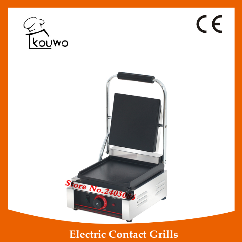 commercial table counter top kitchen cooking equipment Stainless steel non-stick single plate flat electric panini contact grill commercial non stick electric 220v countertop table top teppanyaki plate panini contact griddle