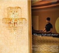 Gold Crystal Wall Lamp Traditional Crystal Wall Lamp Sconce Guaranteed 100%+Free shipping!