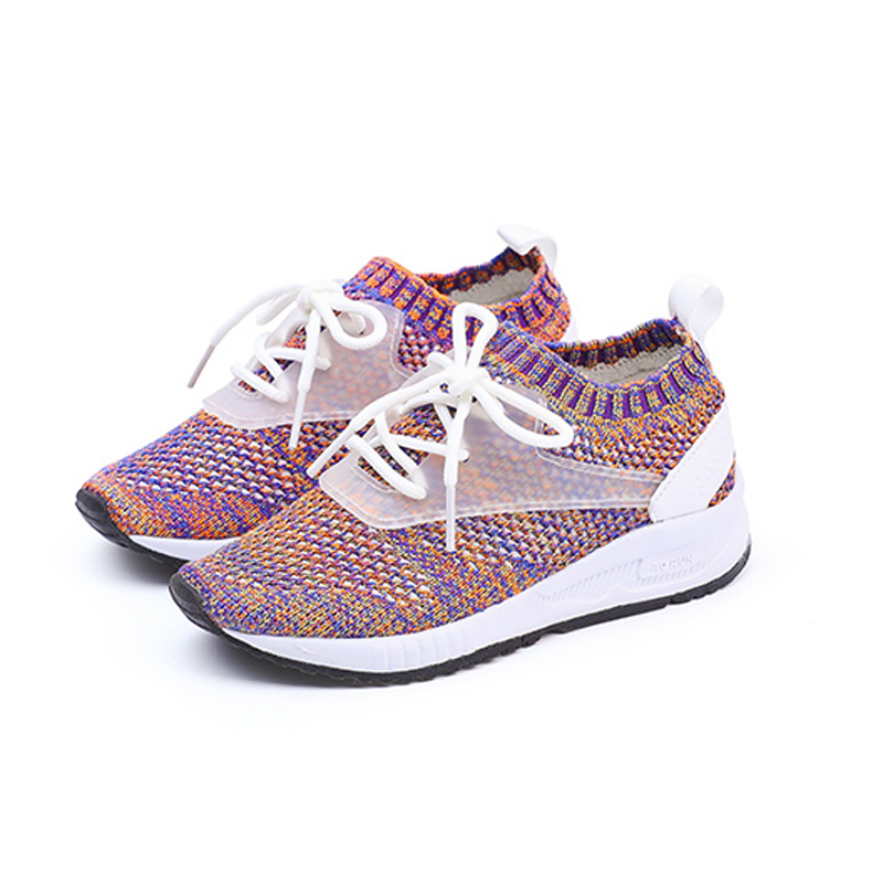 2017 super sneakers high quality stretch textile lace-up girl & boy unisex kids shoes breathable air casual jogging trainer dg home кушетка chaise longue lc4 dg f sf363