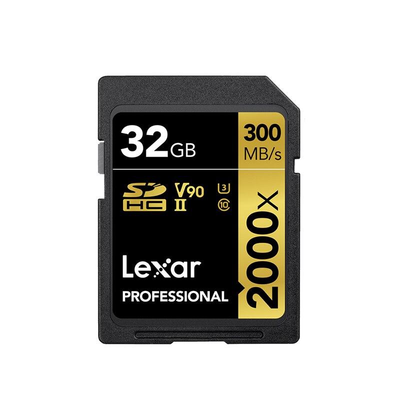 Lexar 2000X UHS 2 SD Card with U3 Flash Limited Pendrive Class 10 32GB 64 GB 128 GB Professional Camera Kart High Speed Memory