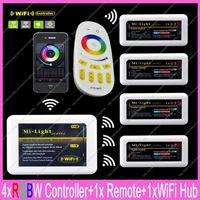 1x 2 4G RF Wireless 4 Zone Touch Remote 1x WiFi Hub 4x DC12 24V 24A
