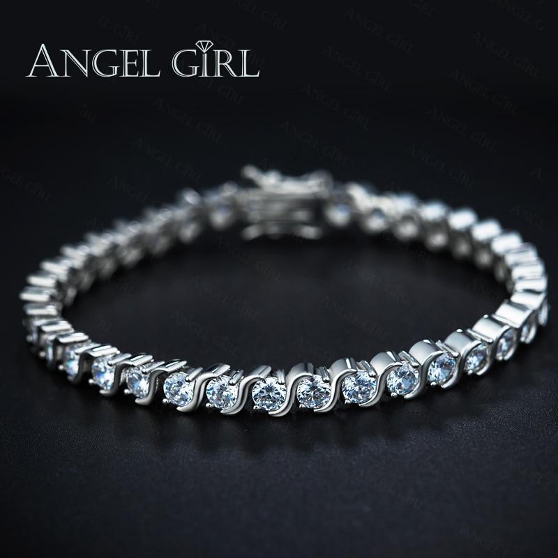 angel girl 5mm aaa round cubic zirconia tennis bracelet. Black Bedroom Furniture Sets. Home Design Ideas