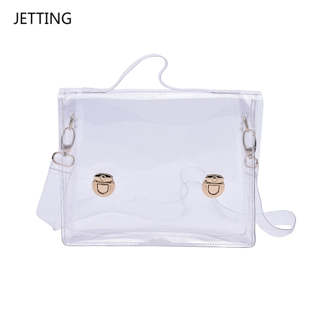 cdf4a9ce0eee Fashion Pvc Transparent Bag Clear Handbag Tote Shoulder Bag