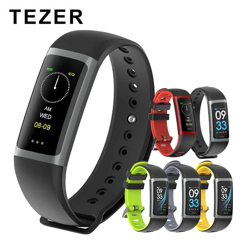 TEZER R26 Braccialetto Intelligente Inseguitore di Fitness con Frequenza Cardiaca Monitor di Pressione Sanguigna di Ossigeno Nel Sangue Monitor per iOS Android