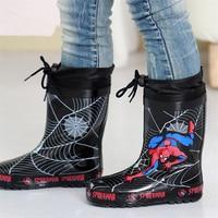 Rainboots coprizapatillas goma spiderhero goma caliente impermeables niños zapatos antideslizante cubierta de goma de terciopelo niños botas de invierno