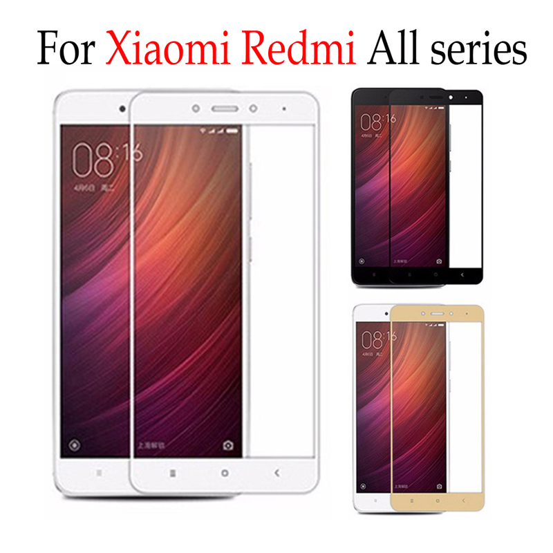 Full Cover Tempered Glass For Xiaomi Redmi 3 4 5 6 Note 3 4 4x Screen Protector on Xiaomi Redmi 4s 5s Plus Max Film Case Films