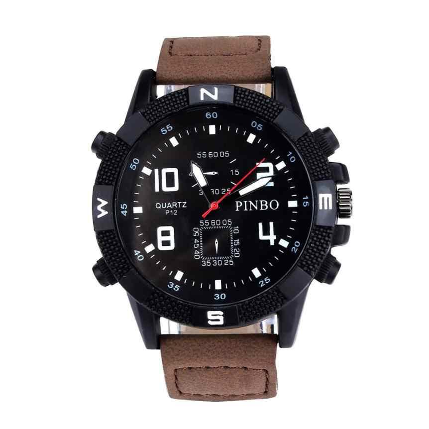 Mewah pria tali Kanvas Militer Dial Sport Quartz Wrist Menonton digital jam tangan baja kasual mens relogio masculino de luxo