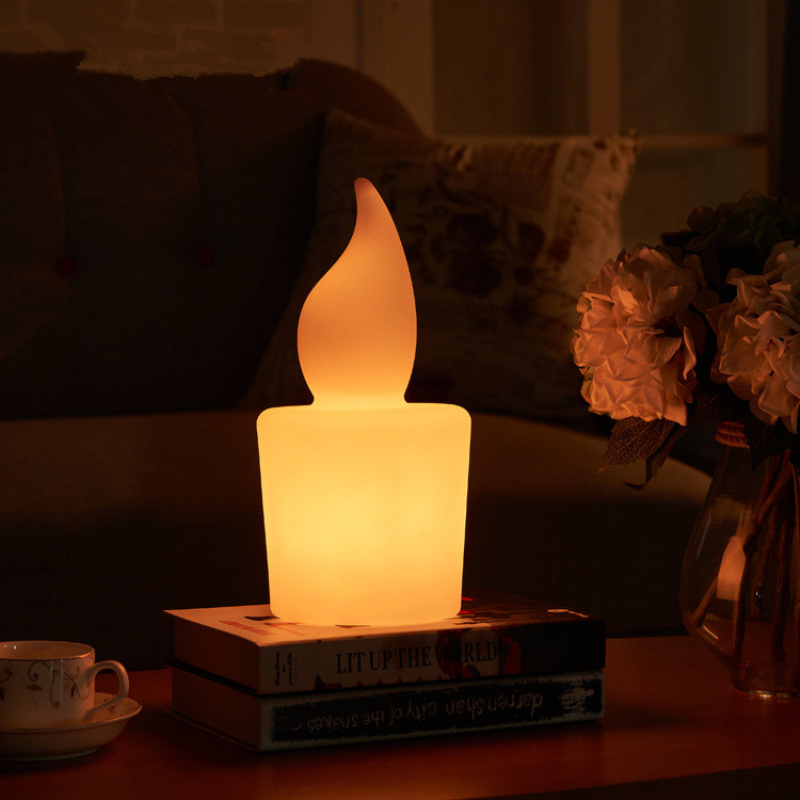 Креативная свеча с дистанционным управлением светодиодный ночник USB зарядка бар Спальня отель кабинет красочный rc Светодиодный светильник Настольная лампа наружная лампа
