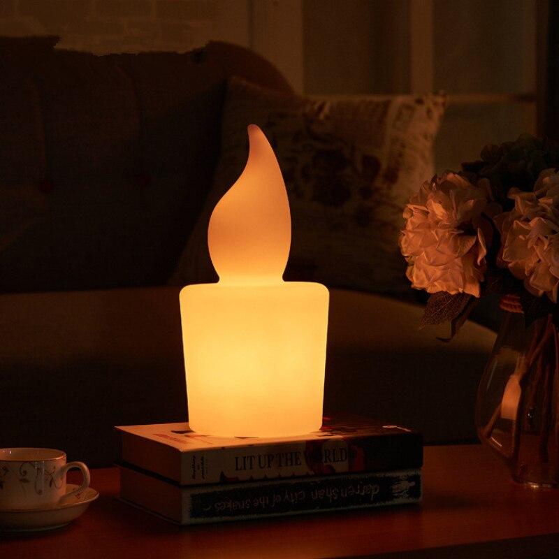 Creative télécommande bougie LED lampe de nuit USB charge bar chambre hôtel étude coloré rc lumière LED lampe de bureau lampe extérieure